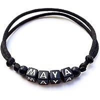 Braccialetto MAYA personalizzato con lettera dell'alfabeto; gioielli con nome, messaggio, logo, iniziale (reversibile…