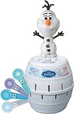 Tomy Kinderspiel Pop up Olaf - Hochwertiges Aktionsspiel für die Ganze Familie aus Dem Disney Film Frozen - verfeinert die Geschicklichkeit Ihres Kindes - ab 4 Jahre