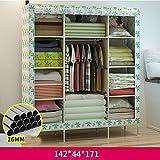 Armario simple armario de tela simple armario armario reforzado polvo armario plegable de almacenamiento ( Color : 2 )