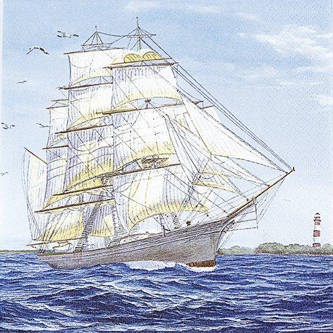 20 Servietten Sailing ship - Segelschiff / Maritim / Meer / Schiff 33x33cm