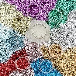 Brian Clegg Ltd. Craft Bioglitter Mixed Pack Std Shades 10 x 40g Shakers, Assortiti