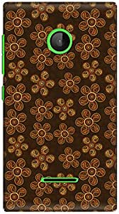 The Racoon Grip printed designer hard back mobile phone case cover for Microsoft Lumia 532. (Ochre Flat)