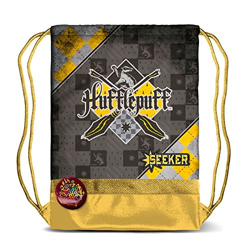 Karactermania Harry Potter Quidditch Hufflepuff-Storm Drawstring Bag Sacca, 47 cm, Giallo (Yellow)
