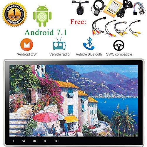 EINCAR Stereo-Unterstützungskamera Android 7.1 Octa-Core-10.1inch Autoradio DVD-Player Auto-Video Automotive, 2 GB RAM 16 GB ROM, HD 1024 * 600 Unterstützung Bluetooth, im Schlag/Deck Mirrorlin (Dvd-player Auto Für Deck)