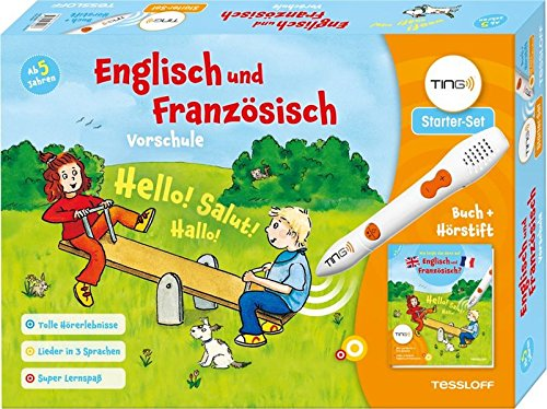 Ting-Starterset Englisch und Französisch Vorschule. Buch und Hörstift: Lieder in 3 Sprachen