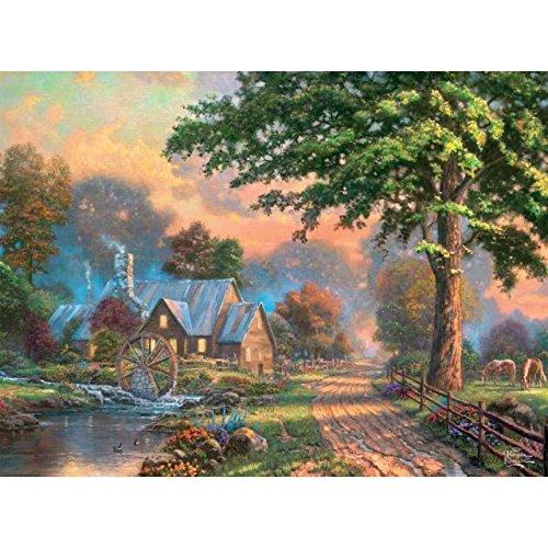 Thomas Kinkade 1000pc. Puzzle-Julianne's Cottage by Ceaco - Juliannes Cottage