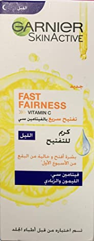Garnier SkinActive Fast Fairness Night cream with Vitamin C, Lemon and Yoghurt, 50 ml