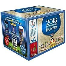 Panini - Mundial Rusia 2018 Caja con 100 sobres - Versión importada de Alemania [Los números de los cromos de la versión importada pueden no coincidir con el álbum de la versión española]