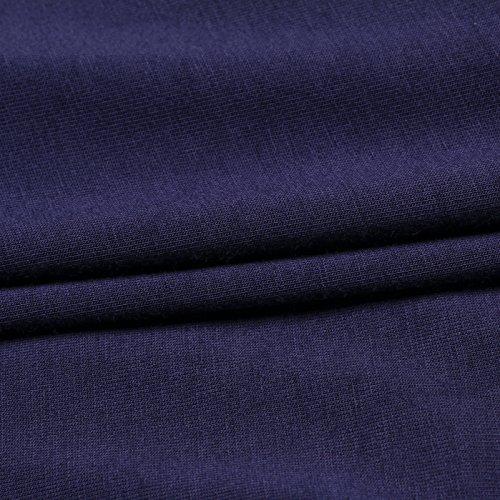 Liang Rou Damen Basic U-Außchnitt Stretch Langarm Unterwäsche Oberteile Navy-Blau