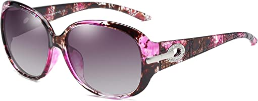 DUCO oversized polarised sunglasses for women ladies sunglasses 100% UV400 Protection 6214