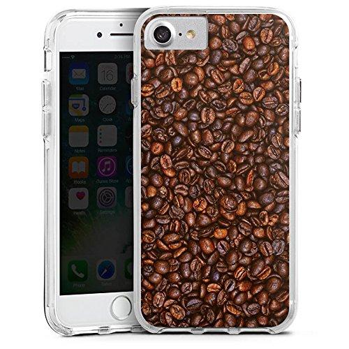 Apple iPhone 7 Plus Bumper Hülle Bumper Case Glitzer Hülle Kaffee Beans Bohnen Bumper Case transparent