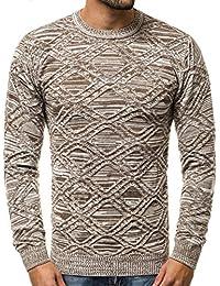 64bac0863655a1 OZONEE Herren Strickpullover Pullover Feinstrick Sweatshirt Pulli Modern  Basic Unifarben Täglichen O 1024AS