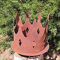 Edelrost 2tlg Rostkerze//Flamme mit Dornspitze für Holz Weihnachtsdekoration