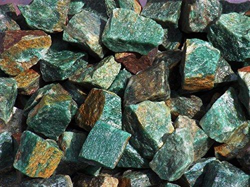Kern Rockhound Produkte: Rough grün Aventurin Bulk Rock für Tumbling, Metaphysische Verwenden, Edelsteine Heilung Kristalle * Großhandel *. aus Indien, Stein, grün, 454 g