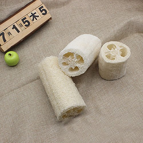 Day.LIN Neue natürliche Luffa Bad Körper Dusche Schwamm Wäscher Pad Hot (weiß, 7.5cm)