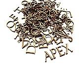 15 x 3 mm MDF Alphabet aus Holz, extra Vokale (50 Stück), Dekoration