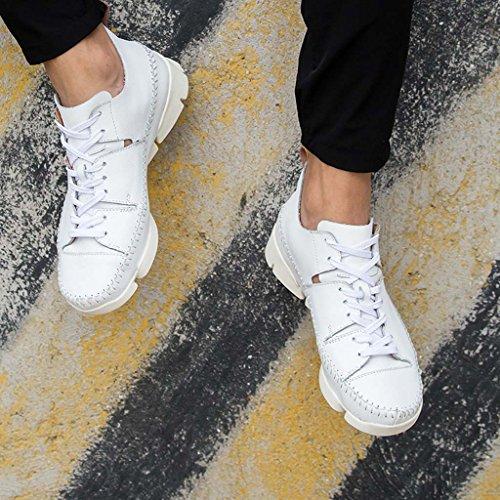 Chaussures D'extérieur Zxcv Automne Et Hiver Sports De Plein Air Loisirs Haute Cuir Cousu À La Main Respirant Faible Pour Aider Les Jeunes Hommes Chaussures De Marée Blanche