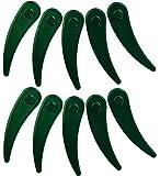 ILOVEDIY 10Stück Kunststoffmesser für Akku-Rasentrimmer ART23-18LI, ART26-18LI (Grün)