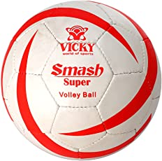 Vicky Smash Super Volleyball, Kids Size 4 (White)