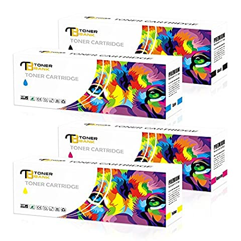 Toner Bank 4-Pack Cartouche de Toner Couleur Compatible avec TN-241BK