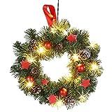 Weihnachts-Türkranz 30cm Weihnachtsdeko Wanddeko Tanne Sterne Zapfen Baumkugeln