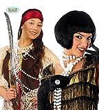 Guirca 20er Jahre Perlenkette 160cm für Charleston Kostüm Piraten Perlen Kette 20iger