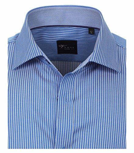 Michaelax-Fashion-Trade -  Camicia classiche  - A righe - Classico  - Maniche lunghe  - Uomo Blau (101)