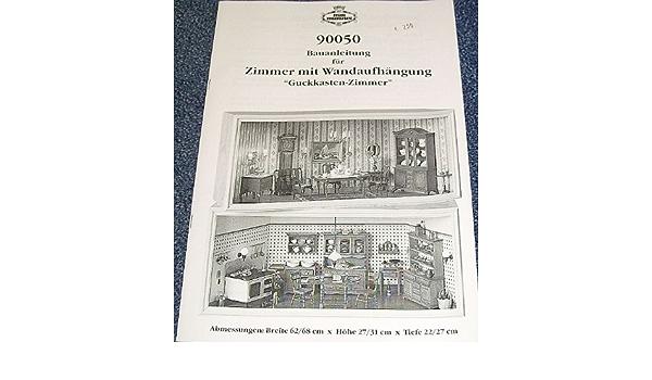 Bauplan mit St/ückliste f/ür Guckkasten f/ür das Puppenhaus