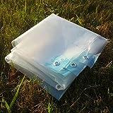 LIXIONG Telone Telo Copertura Trasparente Panno Pioggia Serra capannone all'aperto Capannone Spessore 0.13mm, 22 Taglie (Dimensioni : 3X4m)