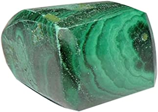 Satyamani Natural Energised Malachite Tumble Stone - Dark Green (1 Pc. Pack)