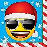 6,5'Emoji Navidad papel servilletas, Paquete de 16