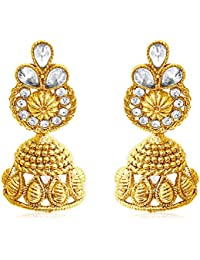 Spargz Traditional Look AD Stone Gold Plating Jhumki Earring For Women AIER 670