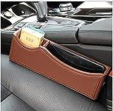 Multifunktions-Auto Sitz Lücke Organisieren Box Münze Aufbewahrungsbox,Brown