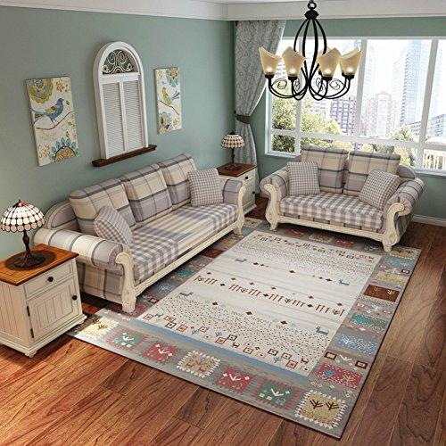 """HMWPB Alfombra Decorativa Alfombra Simple Moderno IKEA Alfombra nórdico Living Dormitorio Completo Tienda café Mesa Alfombra sofá Cama casa habitación-A 3'9"""" x5'2 ft(120 * 160cm)"""