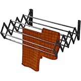 VIMART® 7 LINE 18 INCH Wall Hanger Space Saver Racks Stainless Steel Wall Mounted Collapsible Laundry Folding VIMART Clothes