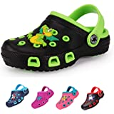 Kids Clogs for Girls and Boys Non-Slip Garden Shoes Slip-on Sandals Beach Pool Shower Slippers Surf Clogs for Children Toddle