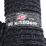 Fußmatte schwarz Größe wählbar Türmatte Schmutzfangmatte Läufer Fußabtreter , Größen:80 x 180cm