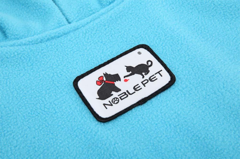 Morezi Pet Cloth Soft Polyester Fleece Dog Vest Elastic Chest Girth Coat Waistcoat Winter Warm Clothes Reversible Dog Coat for Small Medium Large Dogs 6