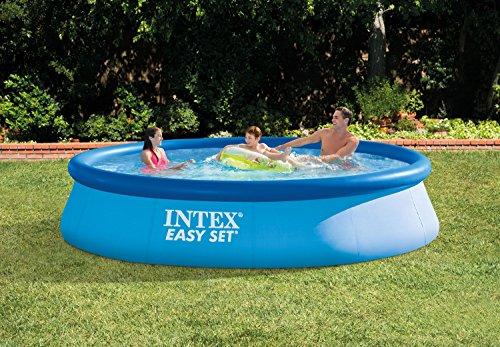 Intex Easy Set Pool Set, blau, 396 x 396 x 84 cm, 7,29 L, 28142GN