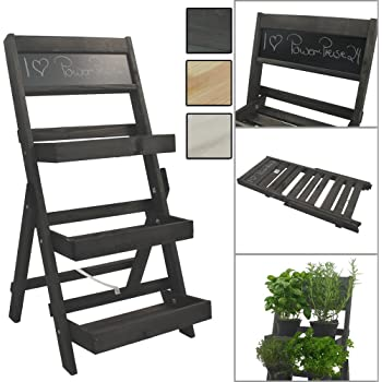 wenko 5857040500 blumen treppe blumenbank metall eisen 61 x 59 x 61 cm gr n garten. Black Bedroom Furniture Sets. Home Design Ideas
