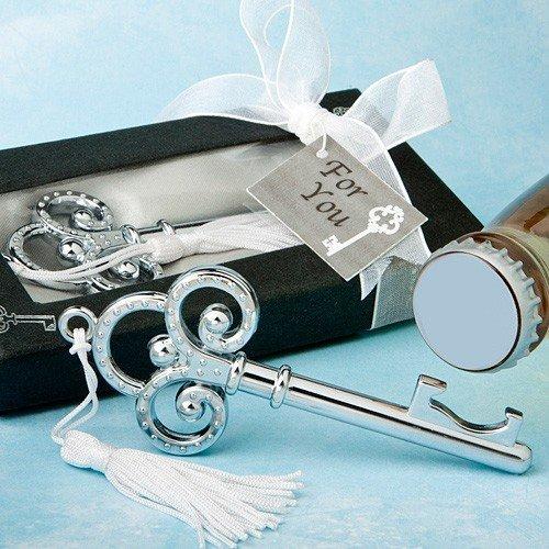 Set 30chiavi argento apribottiglie in scatola regalo–perfecto souvenir de matrimonio