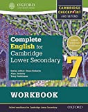 Complete English for Cambridge Lower Secondary Student Workbook 7: For Cambridge Checkpoint and beyond (Cie Checkpoint)