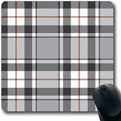 Mousepad Stripes Fashion Gray Plaid Beauty Traditionelles Tartan-Karo Scotland Design rutschfeste Gummi-Mausunterlage Computer-Spielunterlage 25X30CM -