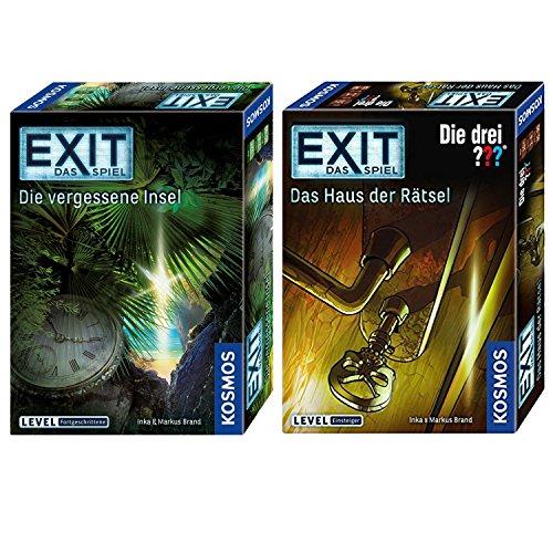 KOSMOS 2er Set 694043 692858 EXIT - Spiel drei ??? - Haus Rätsel + EXIT - Die vergessene Insel
