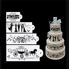 4 Kuchen Schablonen Set, Hochzeit Party Spitze Kuchen Schablone, Set, Kuchen  Craft