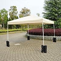 SmartRICH 4 PCS Sac de Sable pour Gazebo Tente Chapiteau Anchor stabiliser la tonnelle pavillon gazebo tente parasol