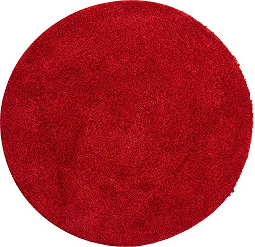 GRUND Badteppich LEX 100 cm ⌀ rubin