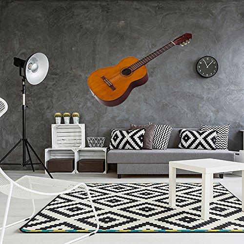 Vinilo decorativo pared 3D Música | Guitarra | Guitarra española | Varias Medidas 80x115cm | Adhesivo Resistente y de Facil Aplicación | Multicolor|Pegatina Adhesiva Decorativa de Diseño Elegante|