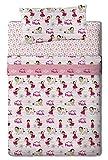 Planeta Junior Heidi-Bettwäsche, aus Baumwoll-Polyester, Mehrfarbig, für Bett von Größe 80/95 cm (Einzelbett), 200 x 90 x 25 cm, 3 Teile