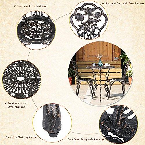 ikayaa balcon jardin table et chaises set meubles 3pcs. Black Bedroom Furniture Sets. Home Design Ideas